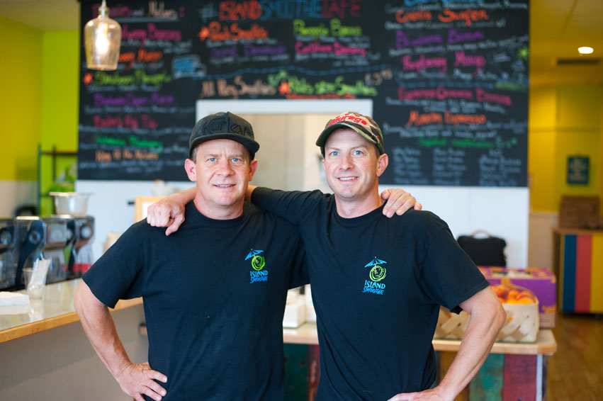 doug and rob owners of island smoothie